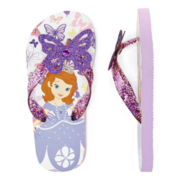 Disney Collection Sofia the First Flip Flops – Girls 2-12