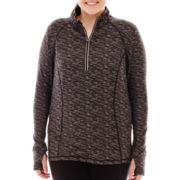 Xersion™ Half-Zip Reflective Pullover - Plus
