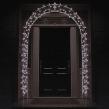 jcpenney.com | 8' Lighted Entryway Front Door Archway Yard Art with Clear Lights