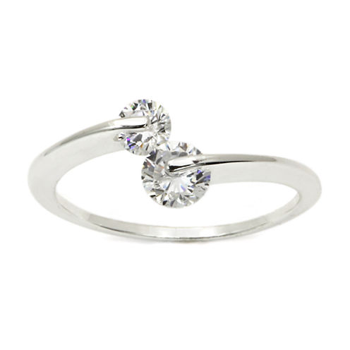 Sparkle Allure White Cubic Zirconia Silver Over Brass Band