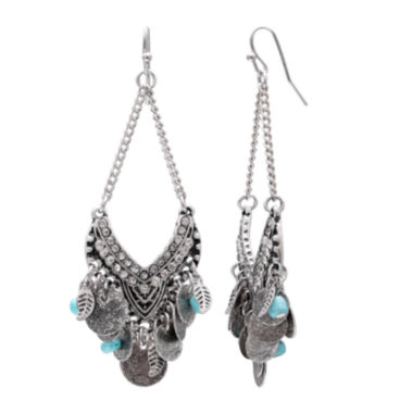 jcpenney.com | Mixit Turquoise Open Chandelier Earrings