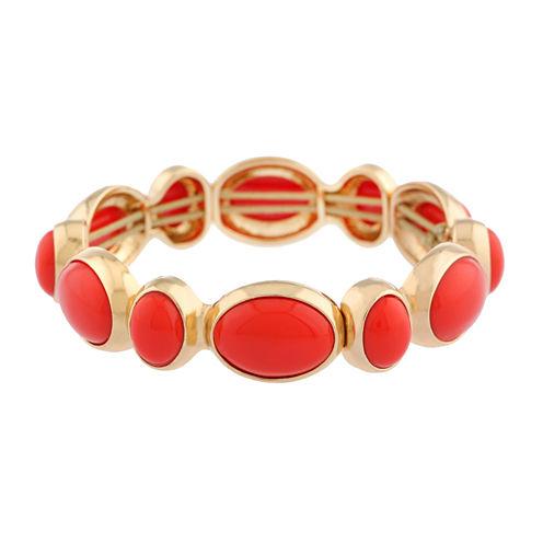 Liz Claiborne Womens Orange Stretch Bracelet