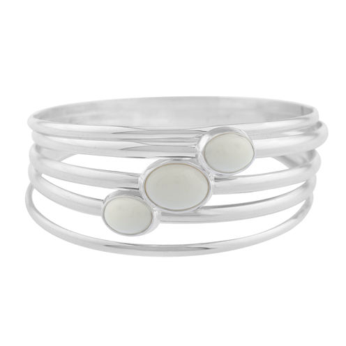 Liz Claiborne Womens White Bangle Bracelet