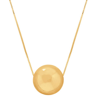 jcpenney.com | 14K Yellow Gold Polished Bead Necklace