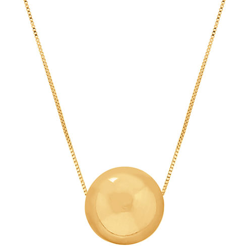 14K Yellow Gold Polished Bead Necklace