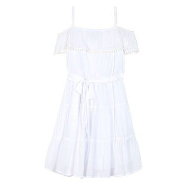 jcpenney.com | Byer White Gauze Off-Shoulder Ruffle Dress