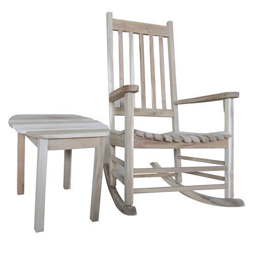 Porch Rocker And Table 2-pc. Patio Lounge Set