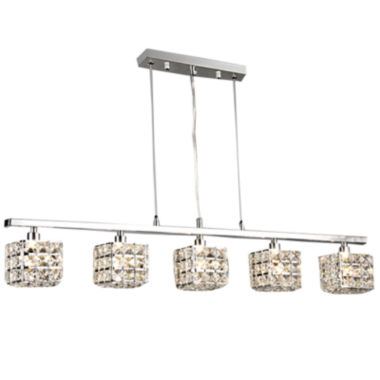 jcpenney.com | Warehouse Of Tiffany Sandra 5-light Crystal 34-inch Chrome Chandelier