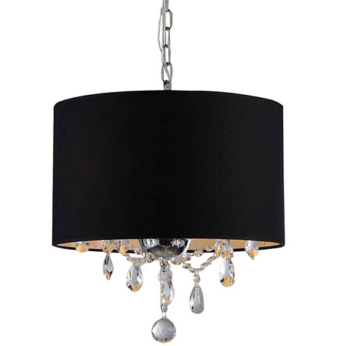 Warehouse Of Tiffany Brim 3-light Crystal Chandelier