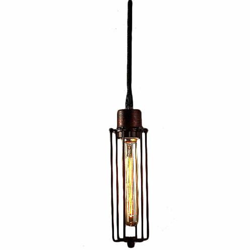Warehouse Of Tiffany Susanna 1-light Adjustable Height Antique Edison Pendant with Bulb
