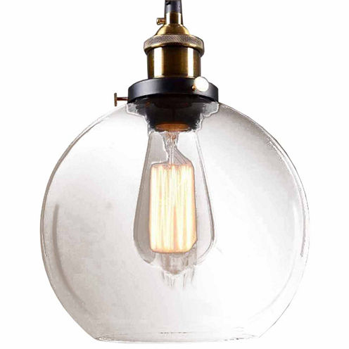 Warehouse Of Tiffany Maisie 8-inch Adjustable Height Edison Pendant with Bulb