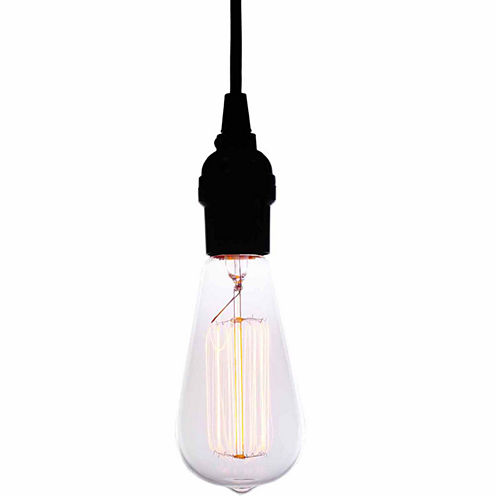 Warehouse Of Tiffany Alexandra Adjustable Height 1-light Edison Lamp with Bulb