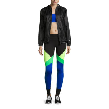 jcpenney.com | Xersion™ Medium Support Removable Cup Sports Bra, Windbreaker, or Colorblock Leggings