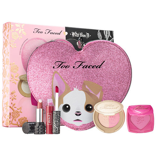 Too Faced x Kat Von D Better Together Cheek & Lip Makeup Bag Set