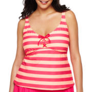 Arizona Lace-Up Halterkini Swim Top - Jr Plus