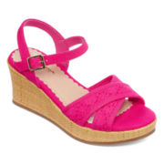 Arizona Claire Girls Wedge Sandals - Little Kids