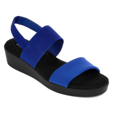 jcpenney.com | St. John's Bay® Swan Two Strap Wedge Sandals
