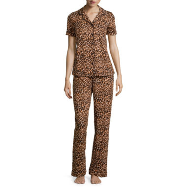 jcpenney.com | Pillow Talk Short-Sleeve Shirt and Pants Pajama Set