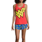 Wonder Woman Shirt and Shorts Pajama Set
