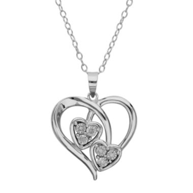 jcpenney.com |  Diamond-Accent Sterling Silver Triple Heart Pendant Necklace