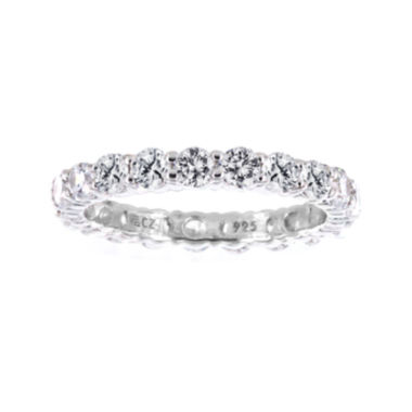 jcpenney.com | DiamonArt® Cubic Zirconia Sterling Silver Eternity Band