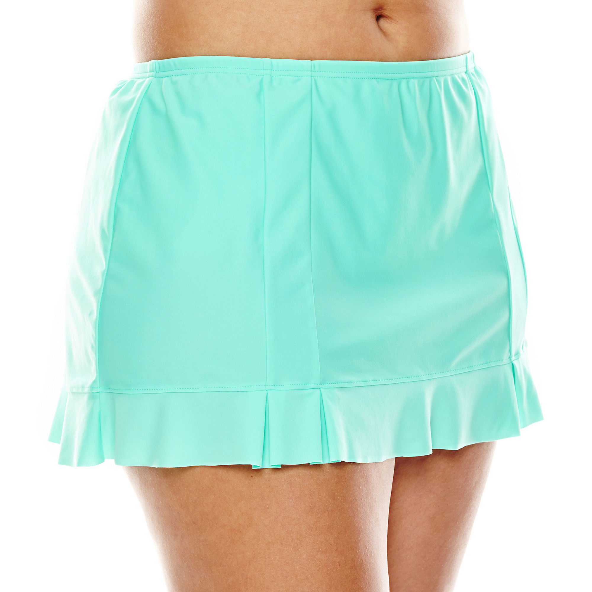 Aqua Couture Ruffled Skirtini Swim Bottoms - Plus plus size,  plus size fashion plus size appare