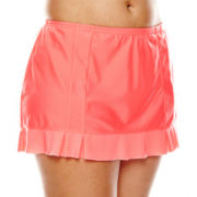 Aqua Couture Ruffled Skirtini Swim Bottoms - Plus