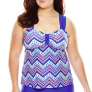 Arizona Americana Chevron Bandeaukini Swim Top - Juniors Plus