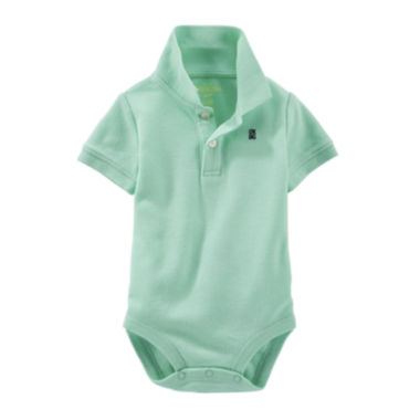jcpenney.com | OshKosh B'gosh® Short-Sleeve Polo Bodysuit - Baby Boys 3m-24m