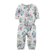 Carter's® Short-Sleeve Floral Jumpsuit - Baby Girls newborn-24m
