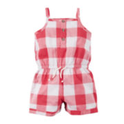 Carter's® Sleeveless Gingham-Print Romper - Baby Girls newborn-24m