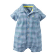 Carter's® Short-Sleeve Gingham Romper - Baby Boys newborn-24m