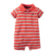 Carter's® Short-Sleeve Striped Romper - Baby Boys newborn-24m