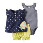 Carter's® Girl 3-pc. Dot-Print Bodysuit Set - Baby Girls newborn-24m
