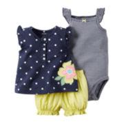 Carter's® Girl 3-pc. Dot-Print Bodysuit Set - Baby Girls newborn-24m