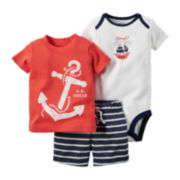 Carter's® 3-pc. Short-Sleeve Anchor Bodysuit Set - Baby Boys newborn-24m