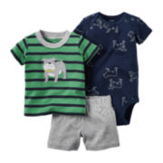 Carter's® 3-pc. Dog Bodysuit Set - Baby Boy newborn-24m