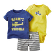 Carter's® 3-pc. Short-Sleeve Plane Bodysuit Set - Baby Boys newborn-24m
