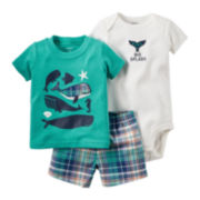 Carter's® 3-pc. Short-Sleeve Sea Animals Bodysuit Set - Baby Boys newborn-24m