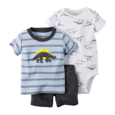 jcpenney.com | Carter's® 3-pc. Short-Sleeve Dino Bodysuit Set - Baby Boys newborn-24m