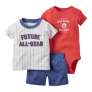 Carter's® Boy 3-pc. Short-Sleeve All-Stars Bodysuit Set - Baby Boys newborn-24m