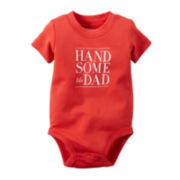 Carter's® Short-Sleeve Handsome Slogan Bodysuit - Baby Boys newborn-24m