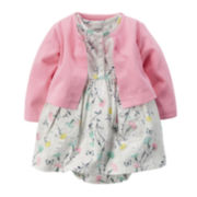 Carter's® Short-Sleeve Floral Bodysuit Dress with Cardigan - Baby Girls newborn-24m