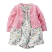 Carter's® Short-Sleeve Floral Bodysuit Dress with Cardigan - Baby Girls newborn-24m