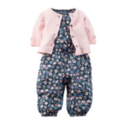 Carter's® Short-Sleeve Floral Jumper with Cardigan - Baby Girls newborn-24m