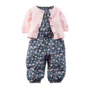 Carter's® Short-Sleeve Floral Jumper with Cardigan - Baby Girls newborn-24m