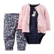 Carter's® 3-pc. Cardigan Set - Baby Girls newborn-24m