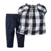 Carter's® Short-Sleeve Top and Pants Set - Baby Girls newborn-24m