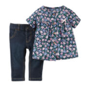 Carter's® Short-Sleeve Top and Jeans - Baby Girls newborn-24m