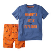 Carter's® Dinosaur Print Tee and Shorts Set - Baby Boys newborn-24m